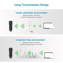 Przewodowy bezprzewodowy Bluetooth 3 w 1 skaner kodów 2D