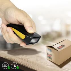 Kieszonkowy przenośny skaner kodów 2D QR przewodowy Bluetooth, bezprzewodowy