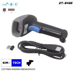 Skaner kodów kreskowych 2D QR komunikacja Bluetooth / bezprzewodowa radiowa 2.4Ghz / Kabel USB