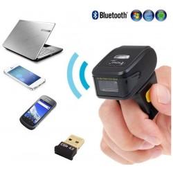 Skaner kodów QR na palec Bluetooth /Radio 2.4GHz/ kabel USB