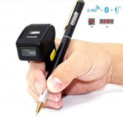 Mini skaner pierścieniowy na palec QR 2D Aztec Maxicode PDF-417 3 sposoby komunikacji