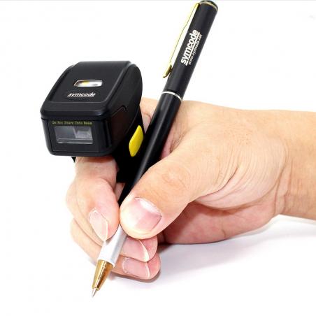 Mini skaner pierścieniowy na palec QR 2D Aztec Maxicode PDF-417 3 potrójna komunikacja Bluetooth / Radiowo / kabel