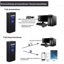 Kieszonkowy skaner kodów kresowych QR Bluetooth USB bezprzewodowy 2.4