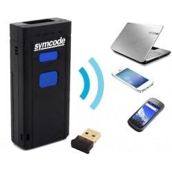Mini skaner kodów kreskowych 2D Potrójna komunikacja bezprzewodowa przewodowa lub Bluetooth