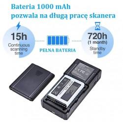 Mini czytnik  kodów kreskowych 2D Potrójna komunikacja bezprzewodowa przewodowa lub Bluetooth
