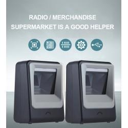 Stacjonarny skaner kodów 2D QR Aztec MaxiCode odczyt z monitorów i ekranów PC Telefon szybki snaer