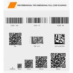Stacjonarny skaner kodów 2D QR Aztec MaxiCode PDF417 odczyt z monitorów i ekranów PC Telefon