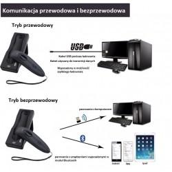 Bezprzewodowy skaner kodów Bluetooth USB QR 2D Potrójna komunikacja bezprzewodowa Bluetooth i kabel USB