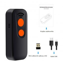 Kieszonkowy mini czytnik kodów kreskowych QR Aztec MaxiCode Bluetooth USB 2.4G