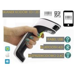 Odczyt kodów z ekranu Komputer Laptopa  I-phone  Komórka Skaner Bezprzewodowy Bluetooth radio i kabel 3 w 1 skaner kodó QR