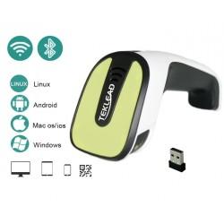 Bluetooth 4.0 radiowy skaner kodów kreskowych CCD QR 3 metody komunikacji kabel USB Bluetooth 4.0 Radiowo 2.4Ghz