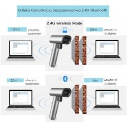 Wifi Bluetooth USB skaner kodów QR z wyświetlaczem