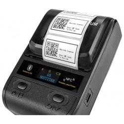Bezprzewodowa i przewodowa przenośna Bluetooth mini drukarka termiczna do etykiet kieszonkowa 1D 2D