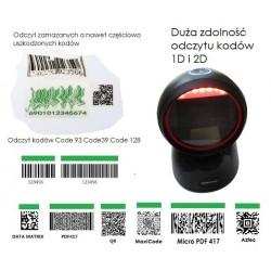 Stacjonarny skaner kodów 2d QR MaxiCode Aztec PDF-417 odczyt z papieru i ekranow
