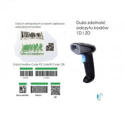 Przewodowy Skaner kodów QR MicroQR Aztec skanowanie ręczne lub automatyczne