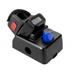 Bluetooth skaner kodów 1D 2D na palec super bateria 550mAh z mini bazą do ładowania i komunikacji dodatkowa bateria