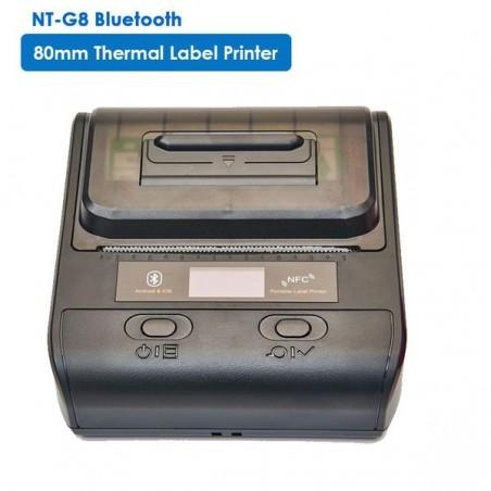 Przenośna bezprzewodowa bluetooth drukarka termiczna etykiet i kwitów 80mm