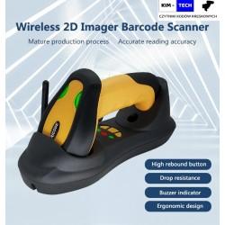 Bezprzewodowy radiowy skaner kodów 1D 2D QR Aztec MaxiCode Szybki 150 metrów bateria 2600mAh